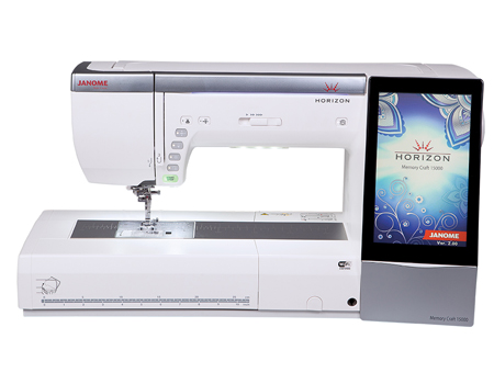 Janome Memory Craft 15000 sewing embroidery combo machine